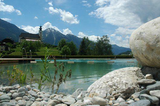 Schwimmteich biologische Wasseraufbereitung Naturfreibad St.Veit