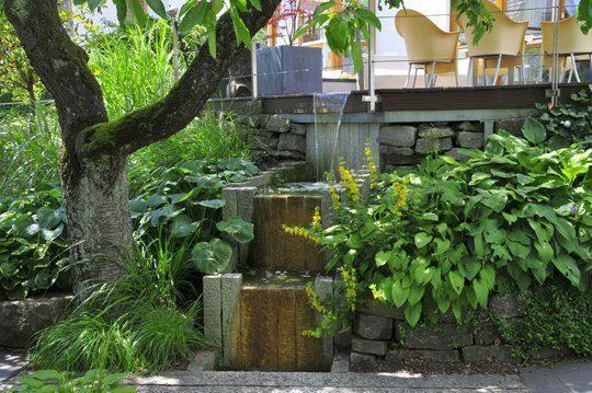 Wasserspiele sind eine Freude für jeden Gartenbesitzer. Foto: Re-natur