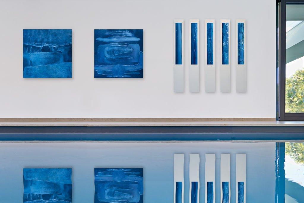Kunst Architektur und Design am Pool