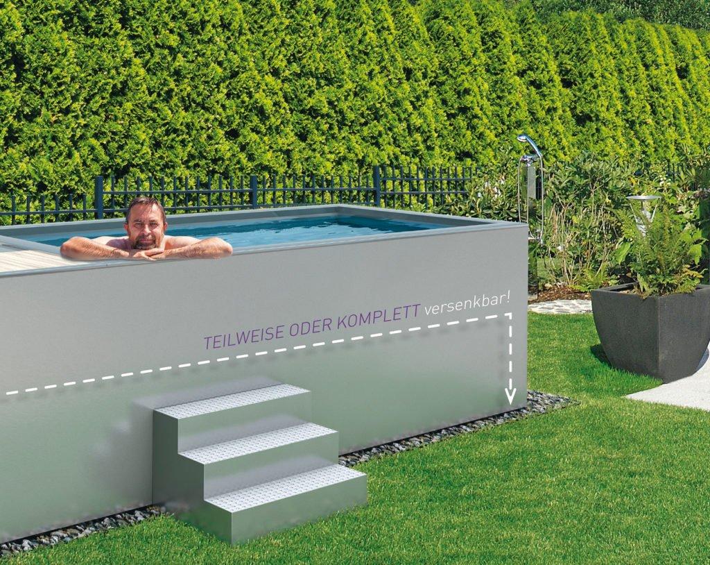 Minipool Gartenpool Pool Garten Polytherm