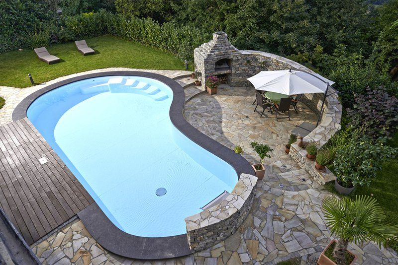 Gartenpool Pool Garten Gegenstromanlage Wasserfall