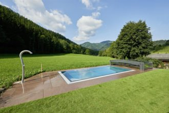 Gartenpool Poolüberdachung Speck-Pumpen Paradiso Pool Garten Schwimmbadbau Pool