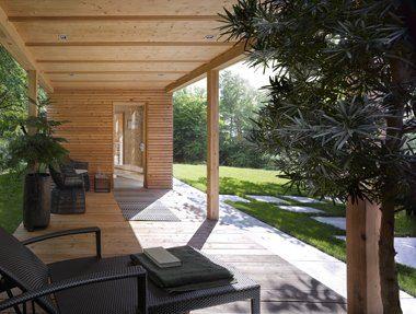 """""""Talo"""", das neue Gartenhaus mit Sauna von Klafs. Foto: Klafs"""