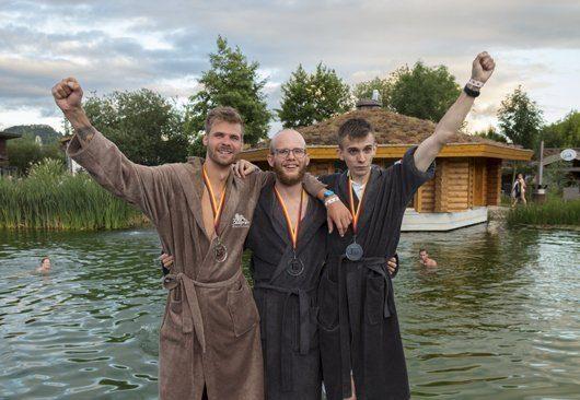 Die Sieger des Einzelwettbewerbs der 3. Deutschen Deutschen Aufguss-Meisterschaften