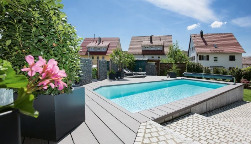 Beckenumrandung Pool Pool Garten Zodiac Schwimmbadbau