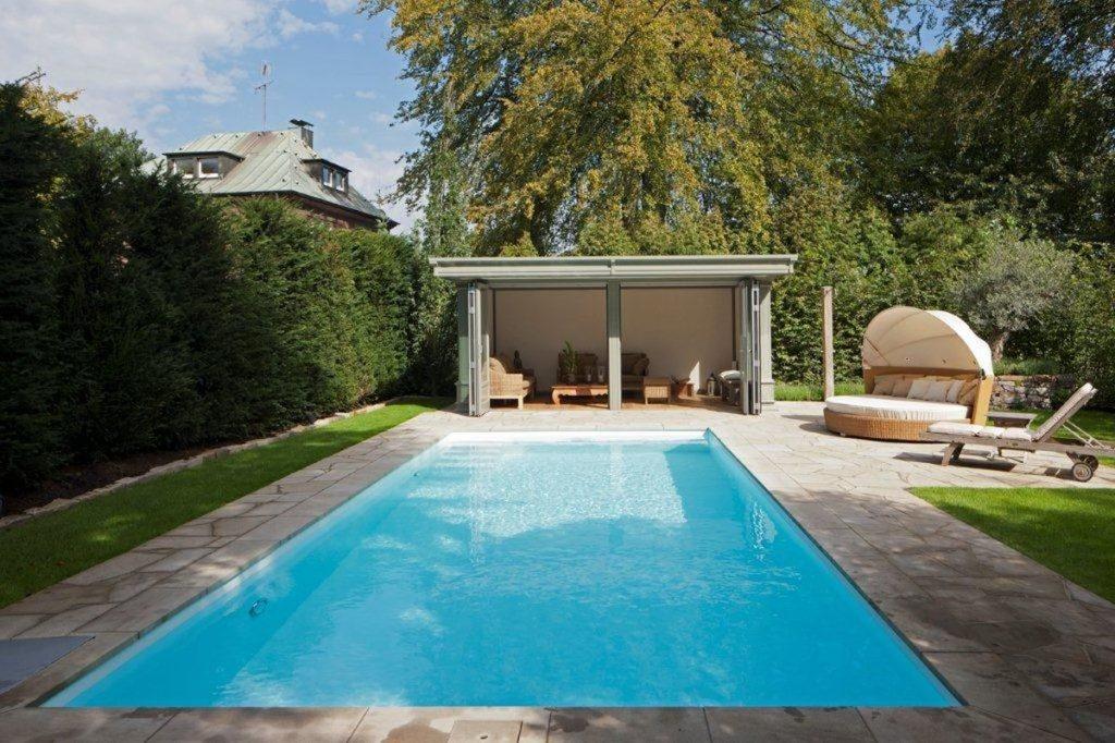 Pool Becken KWS Hart-PVC im Garten