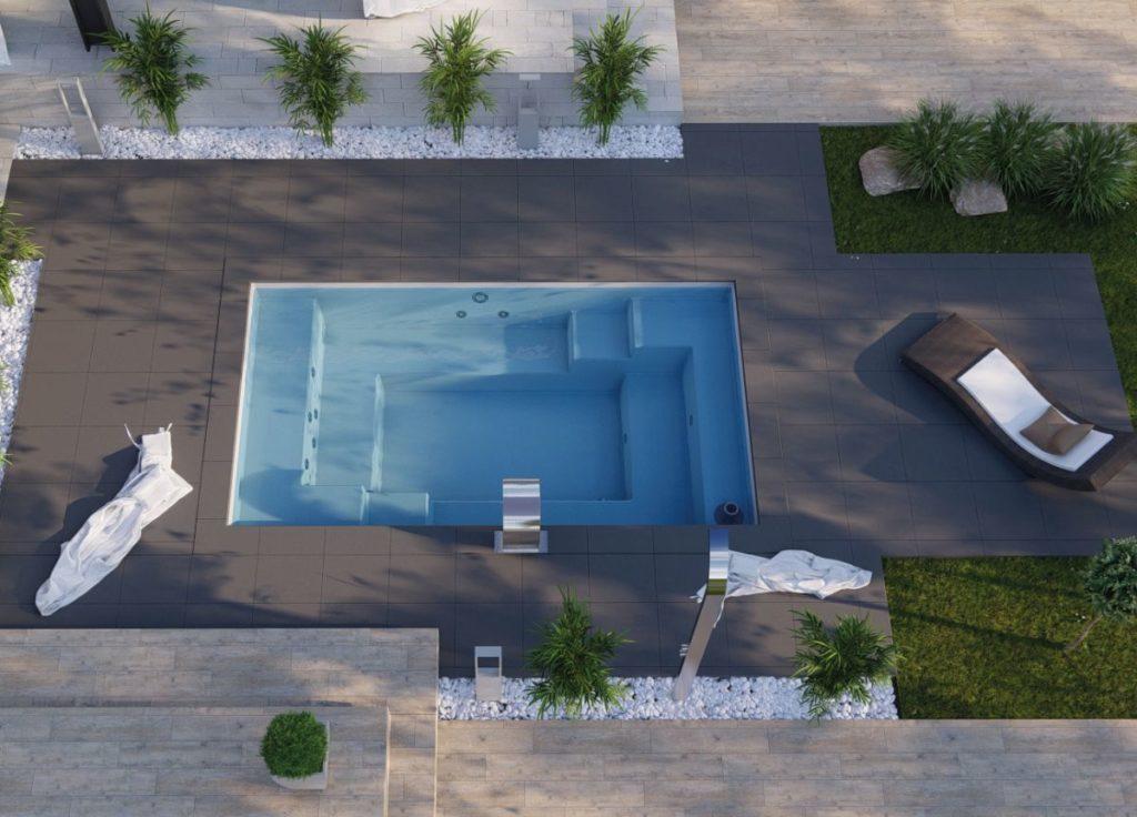 Pool Becken_NemoPool_Thalia D Minipool mit integrierter Pooltechnik