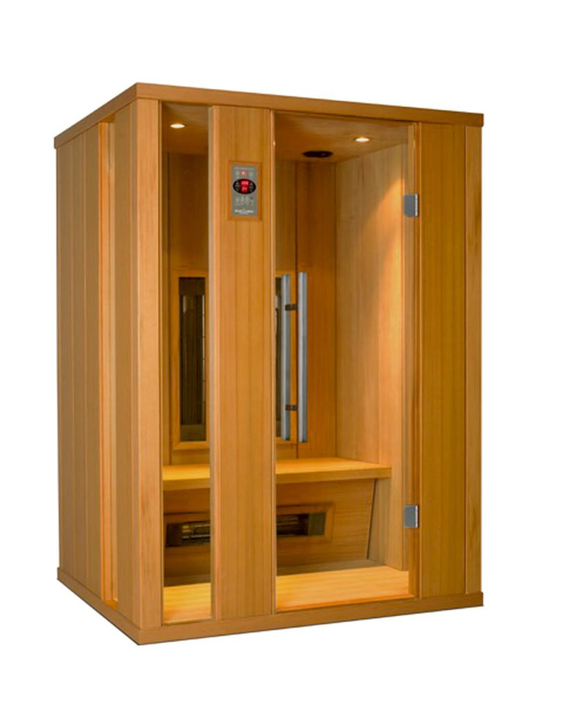 Wellness, die in die Tiefe geht - Eine Holztür - Schrank