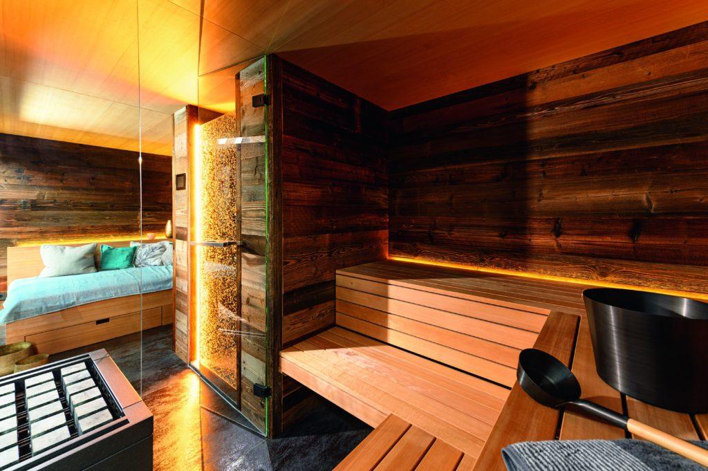 Mit dem Charme einer urigen Berghütte. Foto: corso sauna manufaktur