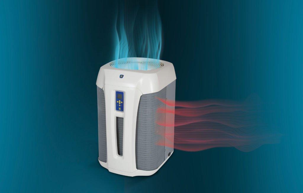 Eine Wärmepumpe als Poolheizung funktioniert umgekehrt wie ein Kühlschrank