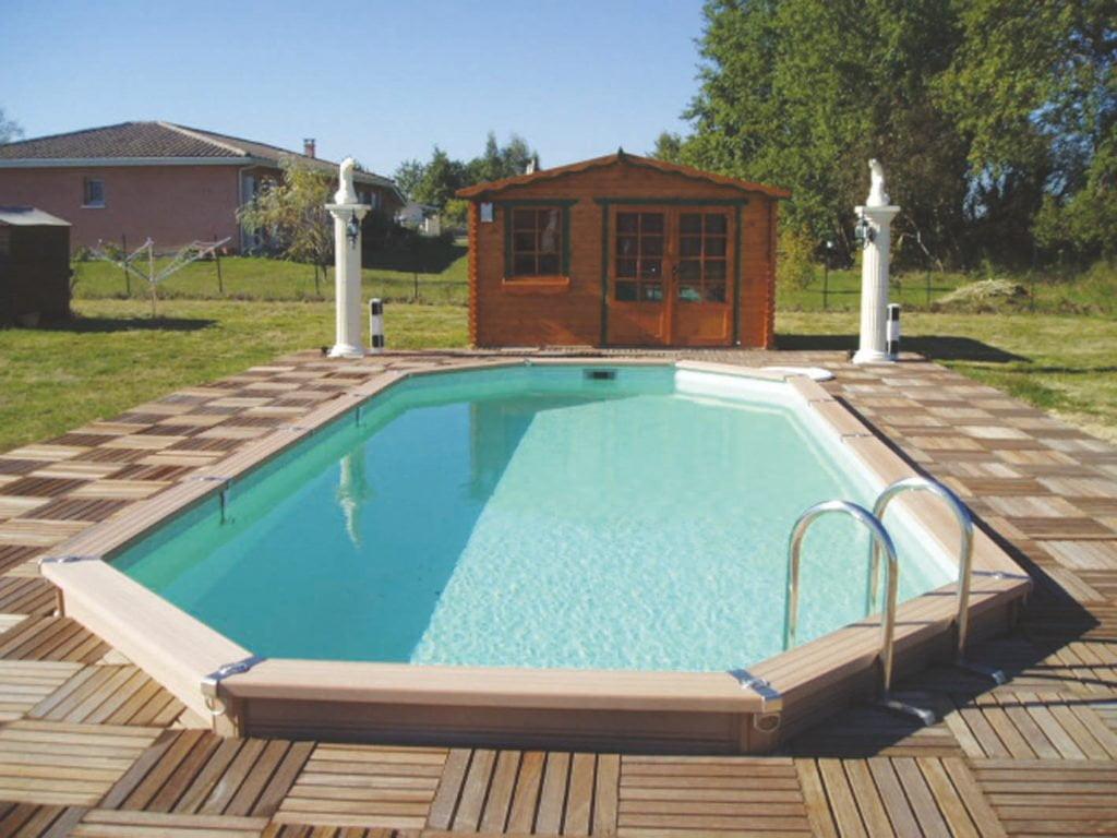 Stahlwandbecken von Azteck Pool mit Pool Isolierung