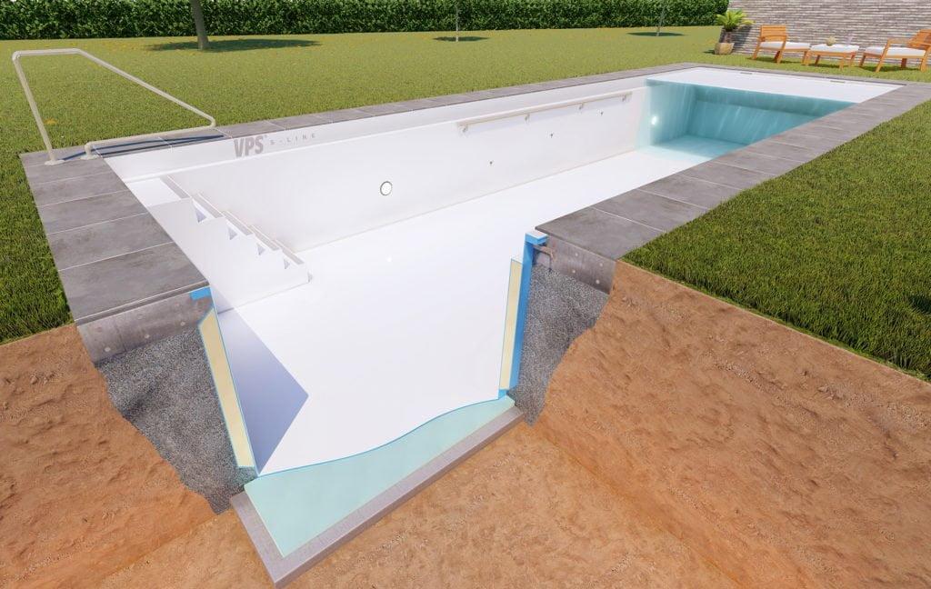 Fertigbecken mit Pool Isolierung von Vario Pool System (VPS)